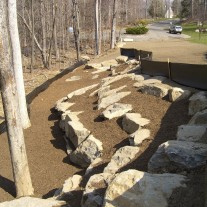 Another view of yard extension in North Stamford, CT.