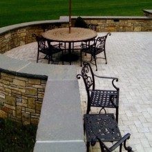 This is another view of the Redding, CT patio.