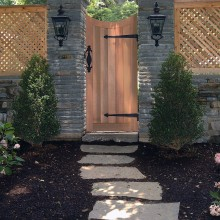 Another view of gates in Westport, CT.