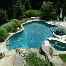 Another view of the South Salem, NY pool.