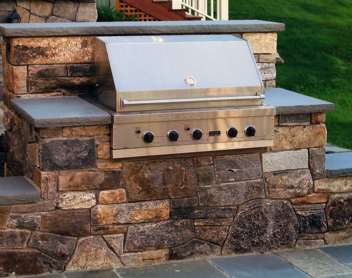 Custom-Built Grills / Outdoor Kitchens | Femia Landscaping on Built In Grill Backyard id=58694